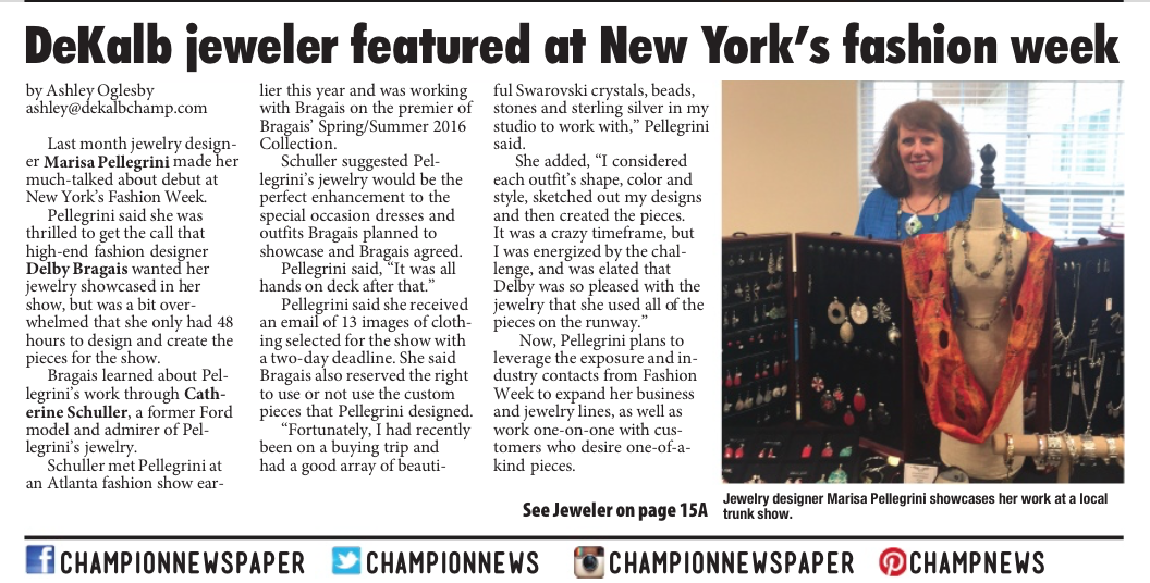 DeKalb jeweler featured at New York's fashion week
